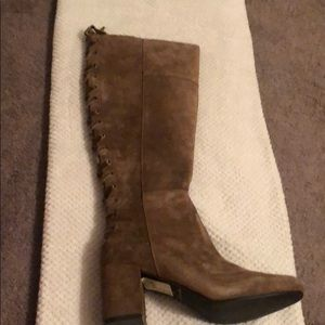 Very volatile Las Angeles-mocha tall suede boots